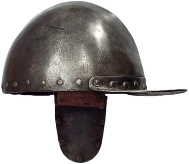 A EUROPEAN SAPPER'S HELMET C.1625 - WAS $3,450