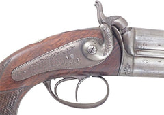 A Fine French Over And Under Percussion Pistol By F.p. Caron Paris 1852-74 Gunmaker To Napoleon Iii - Product