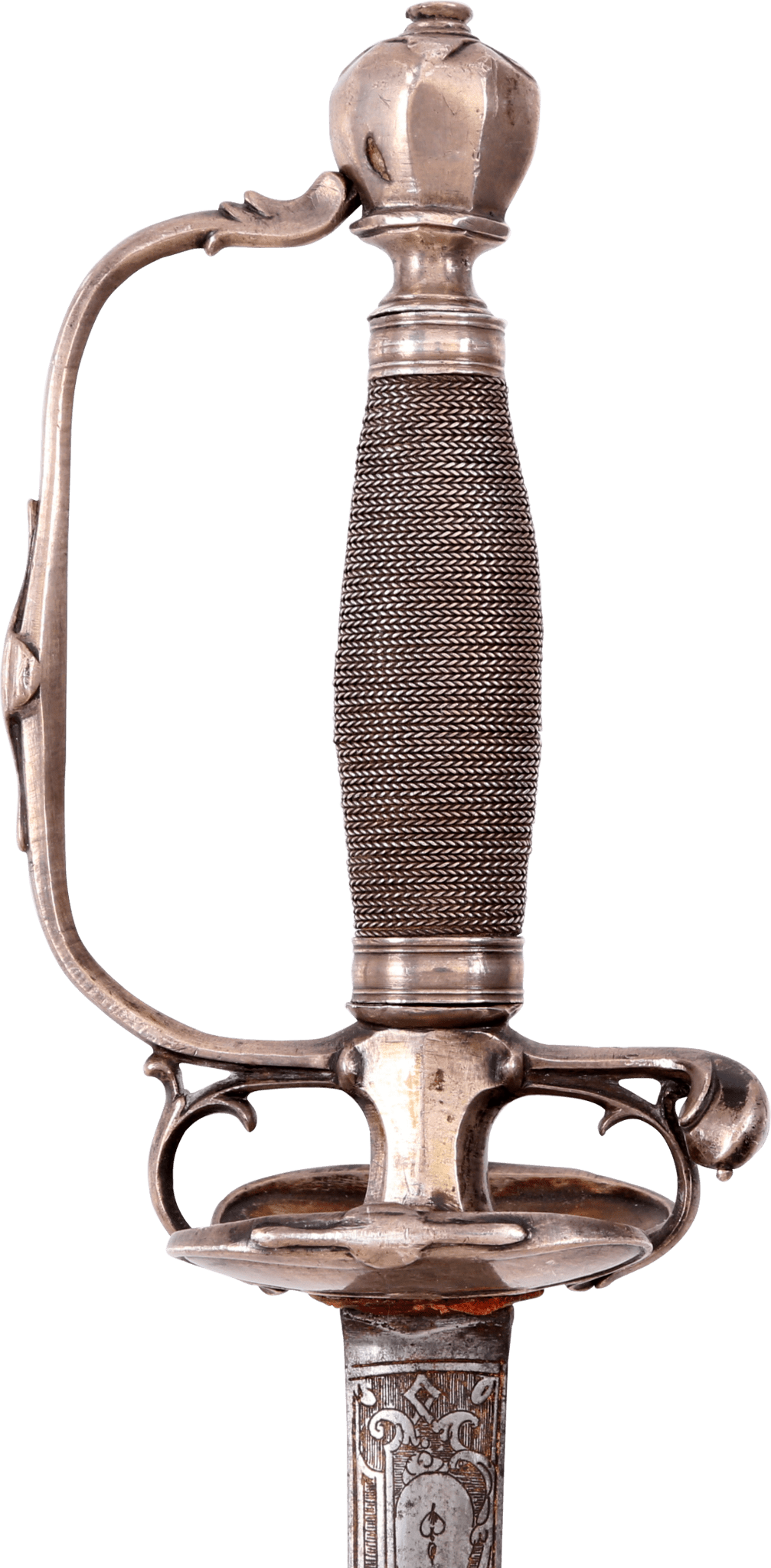 A FINE FRENCH SILVER HILTED SMALLSWORD C.1720 - Fagan Arms
