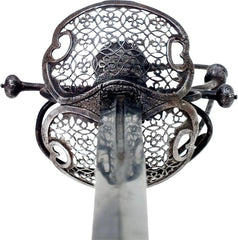 A Fine Silvered Hilt German Rapier C.1640-60 By Johannis Brach - Product