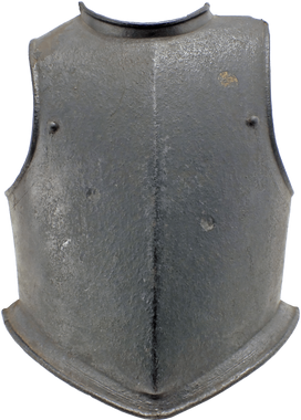 A MID-17th CENTURY ENGLISH MULTIPLEX CAVALRY BREASTPLATE