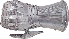 A RARE SOUTH GERMAN GAUNTLET FOR THE RIGHT HAND C.1500-05