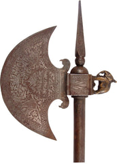 INDOPERSIAN CONCEALED DAGGER BATTLE AXE