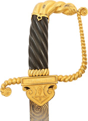 A FINE BRITISH OFFICER'S PRESENTATION SWORD OF THE NAPOLEONIC PERIOD