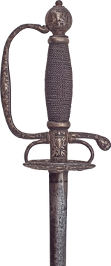 AN ENGLISH TRANSITIONAL RAPIER C.1660-80