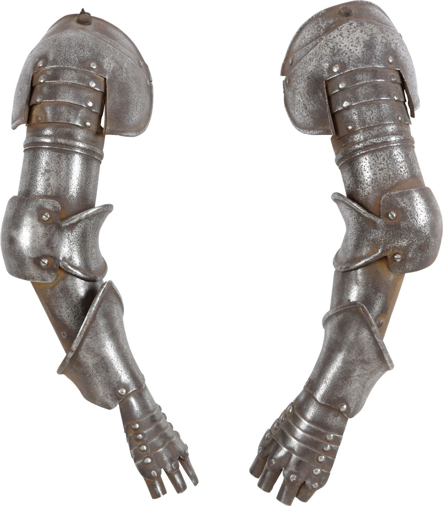 Antique Pair Of Brassards (Full Arms) For A Miniature Armor - Product