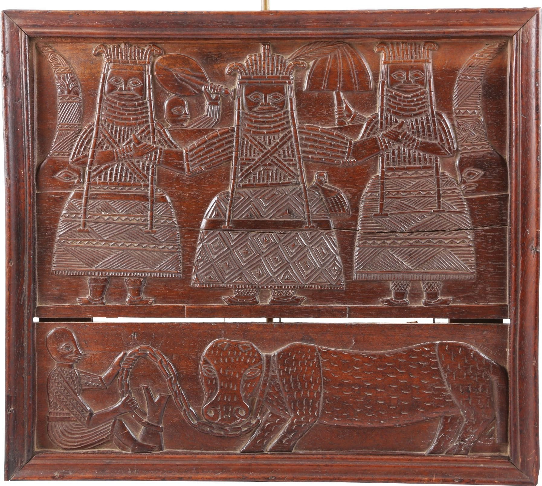 BENIN CARVED WOOD PANELS - Fagan Arms