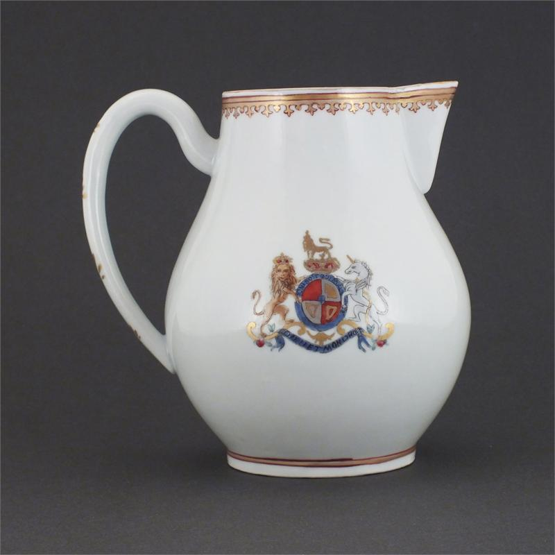Charming And Fine English Patriotic Porcelain Pitcher C.1780 - Product