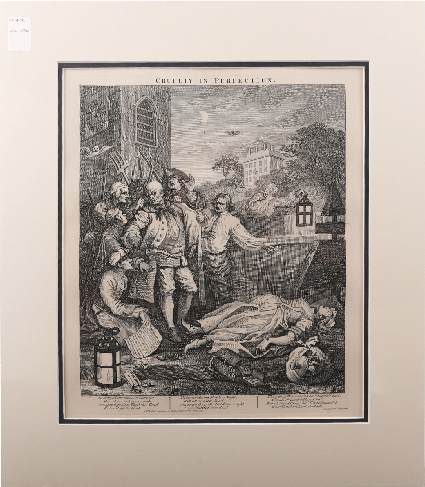 CRUELTY IN PERFECTION, WILLIAM HOGARTH - Fagan Arms