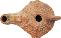 Egyptian Red Terra Cotta Oil Lamp - Product