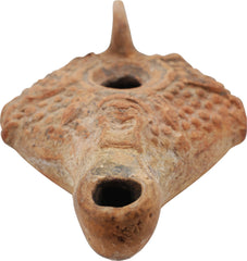 Egyptian Red Terracotta Oil Lamp - Product