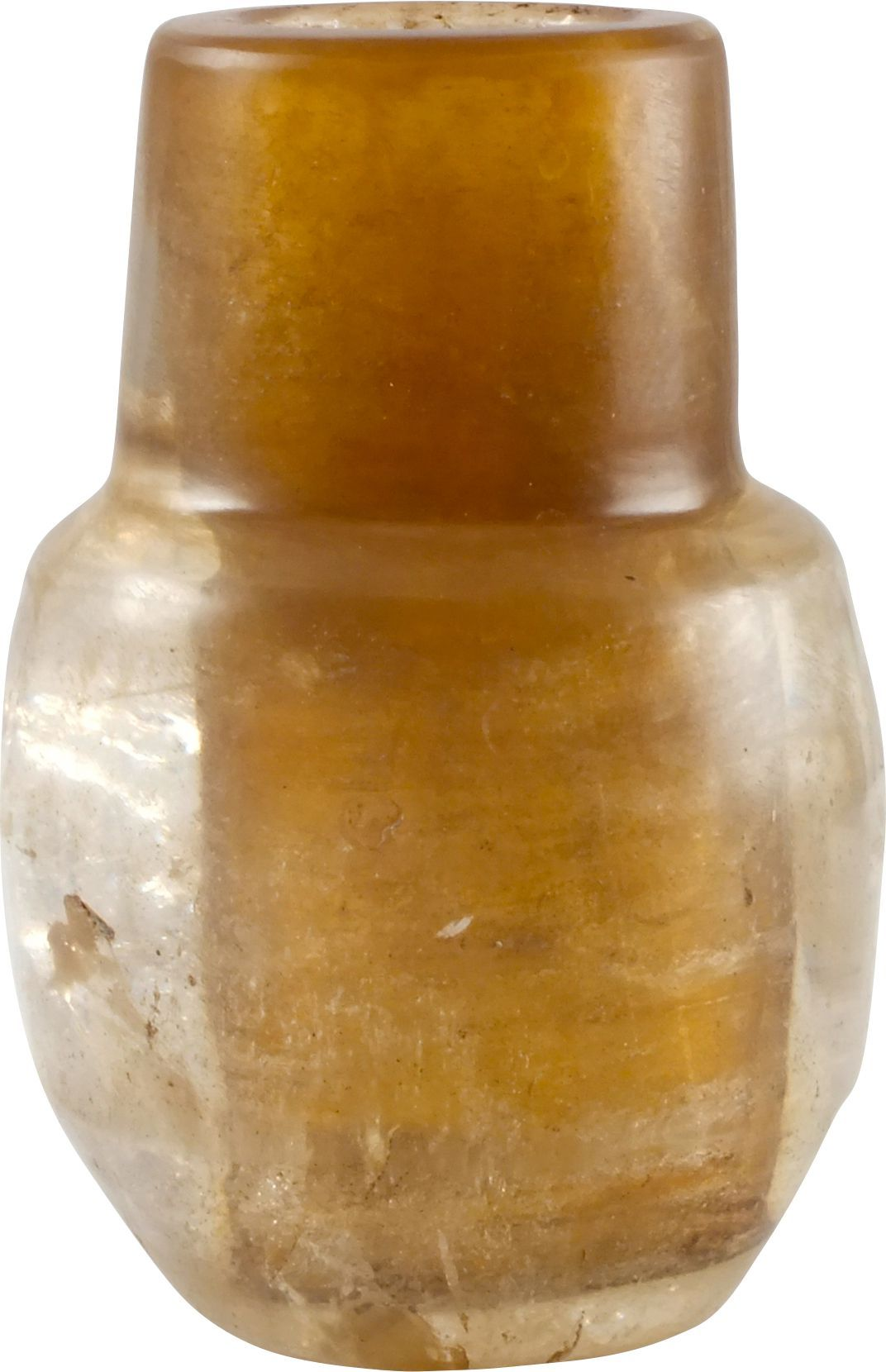 Egyptian Rock Crystal Makeup Jar C.2700-2055 Bc - Product