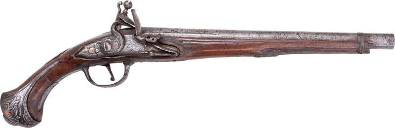 Elegant Ottoman Turkish Flintlock Pistol C.1750 - Product