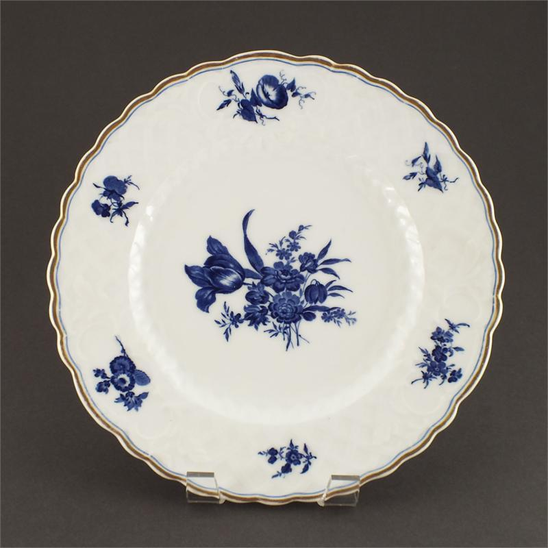 English Blue On White Export Porcelain Plate - Product