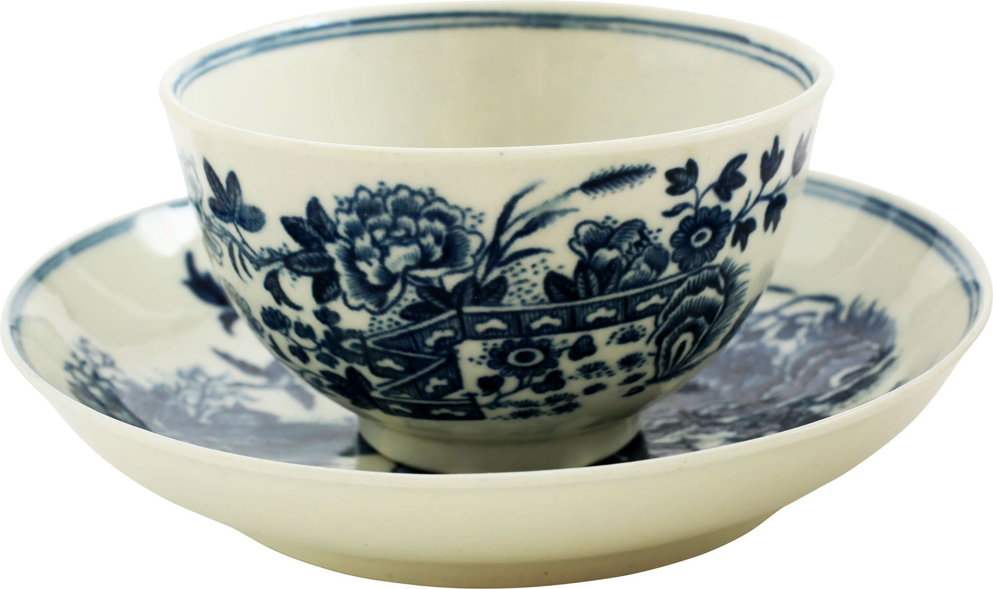 English Export Porcelain Tea Bowl And Under Bowl - Product