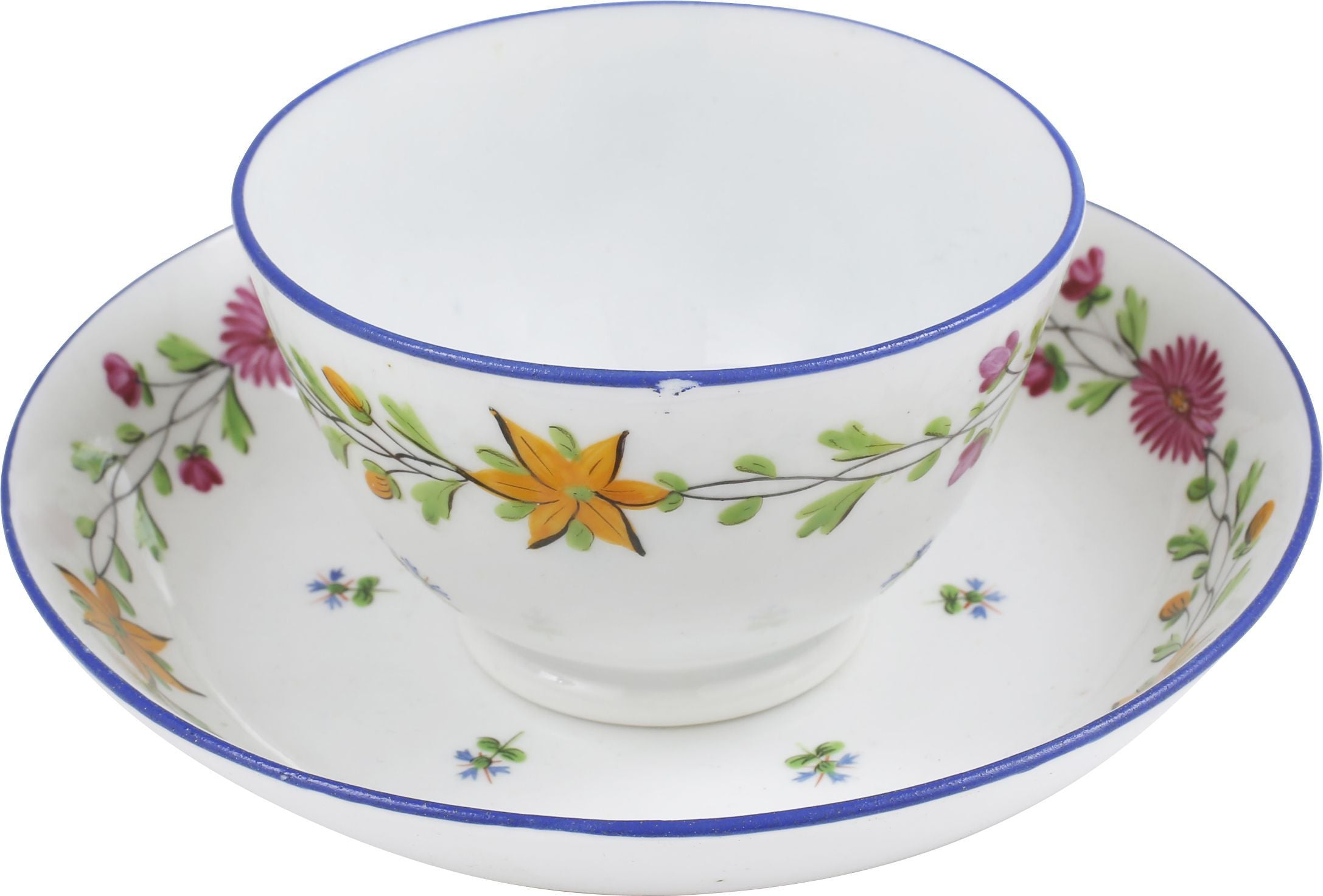 English Porcelain Tea Bowl And Under Bowl C.1800-25 - Product