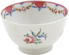 English Porcelain Tea Bowl And Under Bowl - Product