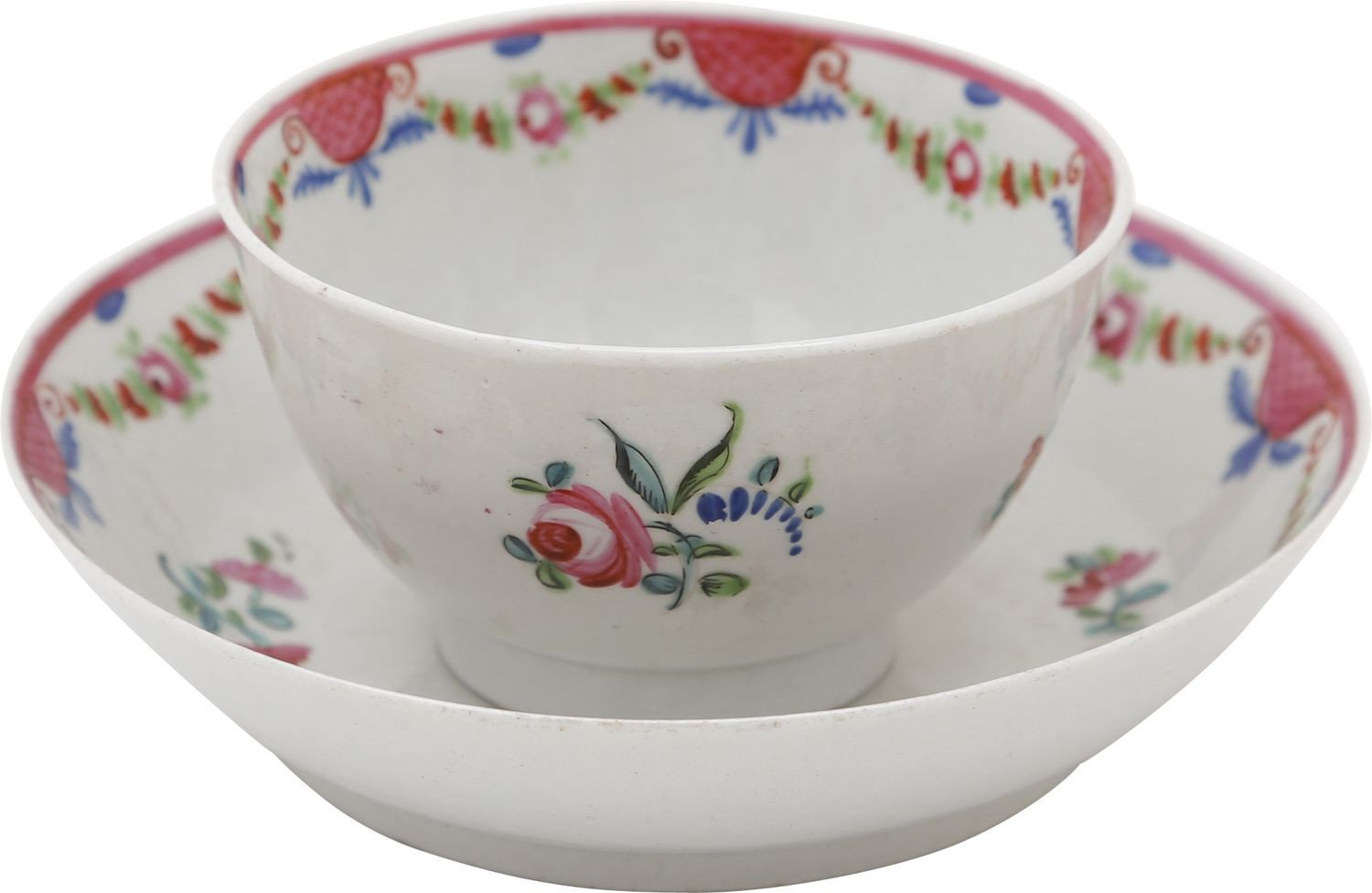 ENGLISH PORCELAIN TEA BOWL AND UNDER BOWL - Fagan Arms