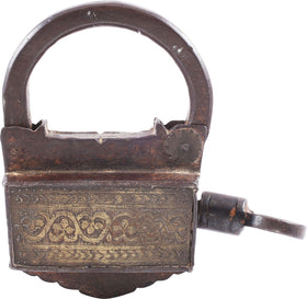 EXTRAORDINARY LARGE ARAB SLAVE TRADE LOCK