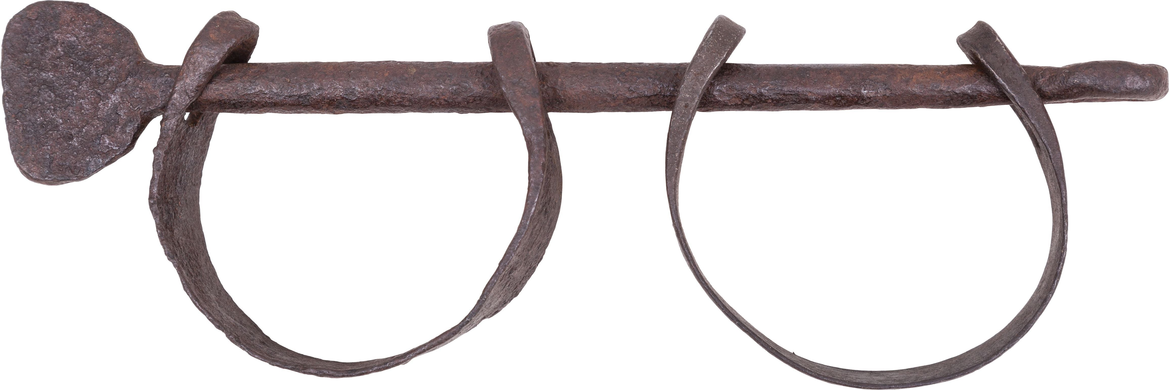 EXTREMELY RARE PAIR OF LEG IRONS (SHACKLES) FROM THE SLAVE TRADE - Fagan Arms