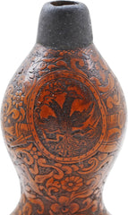 Fine 18Th Century Carved Calabash Powder Flask - Product