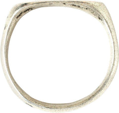 Fine Celtic Silver Mans Ring 2Nd-3Rd Century Ad - Product