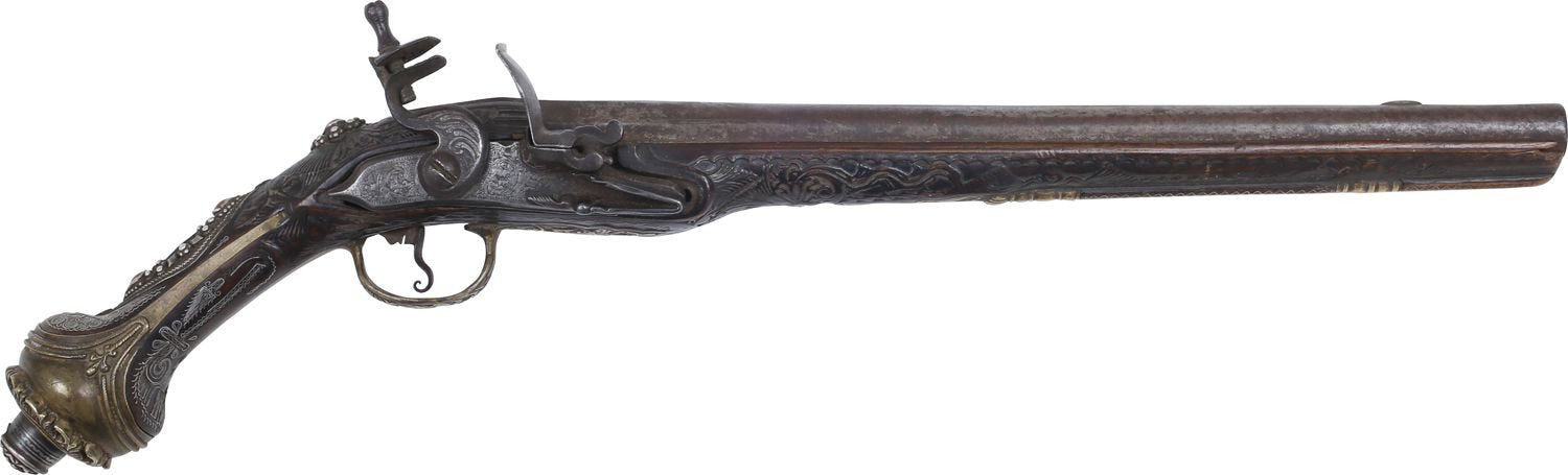 Fine Large Turkish Flintlock Pistol - Product
