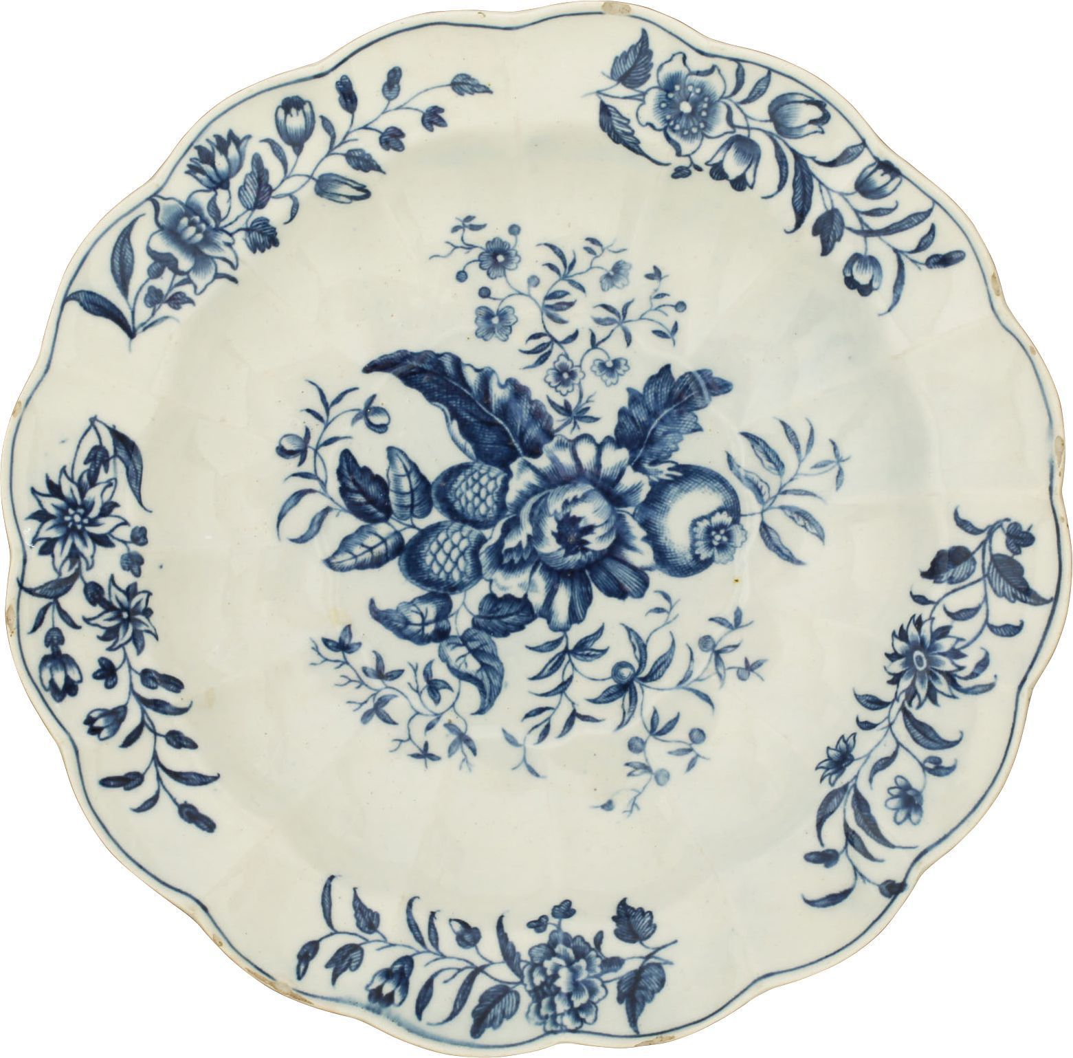FIRST PERIOD WORCESTER DISH C.1770 - Fagan Arms