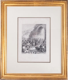 FRAMED ANTIQUE LITHOGRAPH