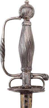 FRENCH SILVER HILTED SMALLSWORD C.1720-40