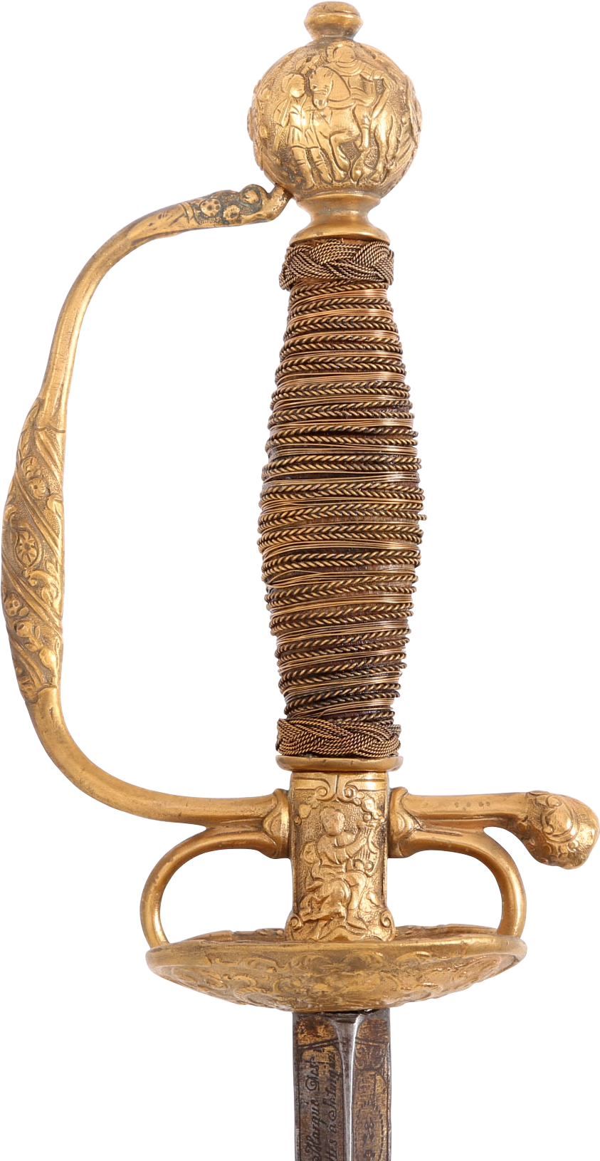 German Gilt Hilt Smallsword C.1700-20 - Product