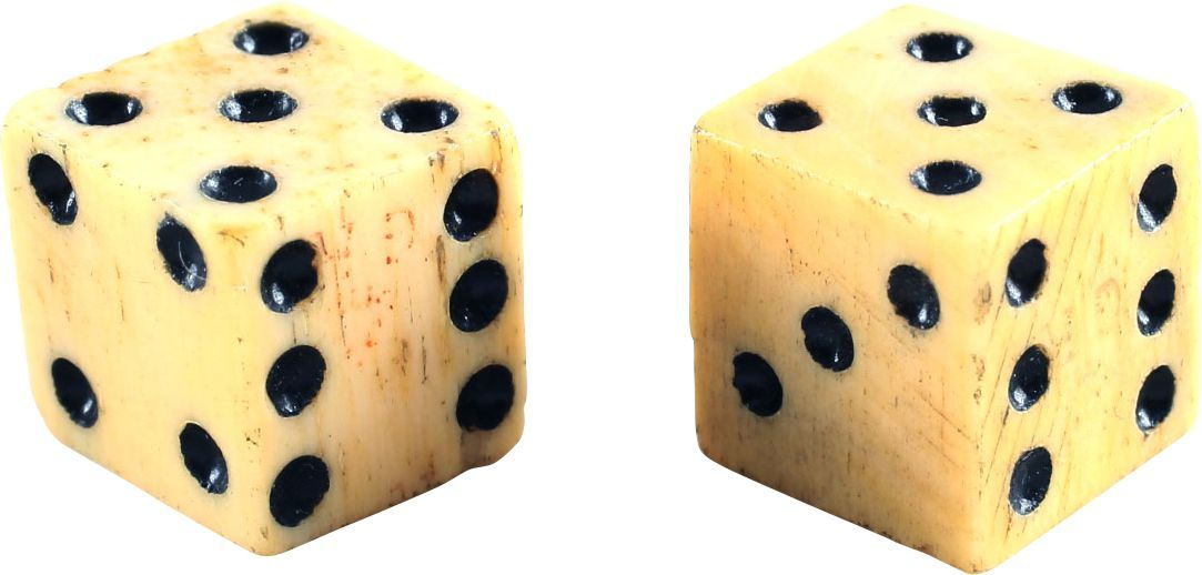 Gr Marked Colonial American Bone Dice - Product