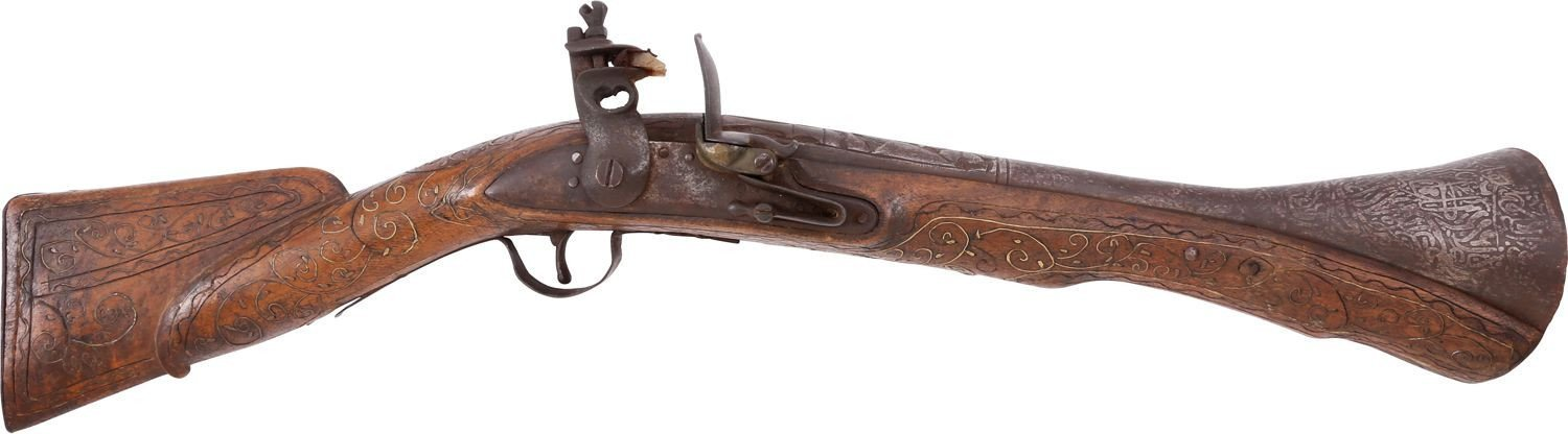 HUGE OTTOMAN TURKISH BLUNDERBUSS C.1800 - Fagan Arms