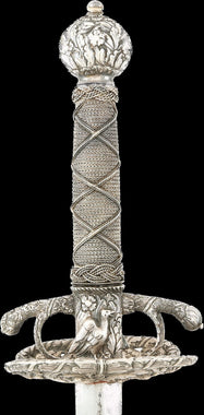 A RARE SILVER HILTED NORTH ITALIAN TRANSITIONAL RAPIER C.1655-60.