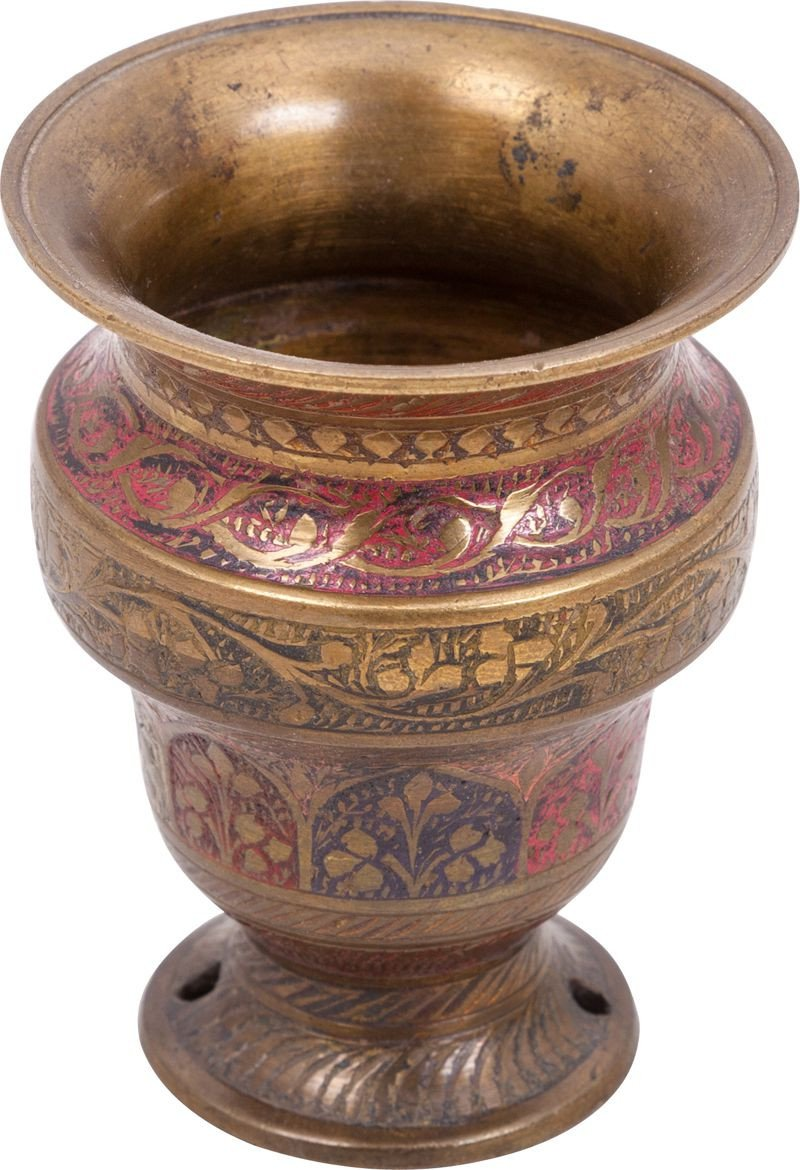 Indopersian Enameled Bronze Vase - Product