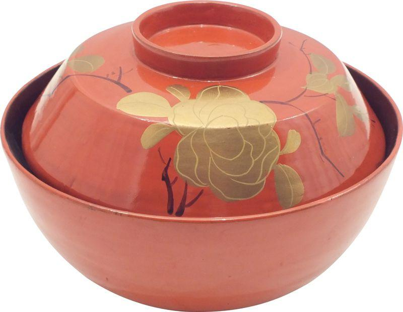 Japanese Lacquered Covered Bowl - Product