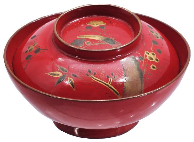 JAPANESE LACQUERED FOOD BOWL - Fagan Arms