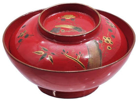 JAPANESE LACQUERED FOOD BOWL