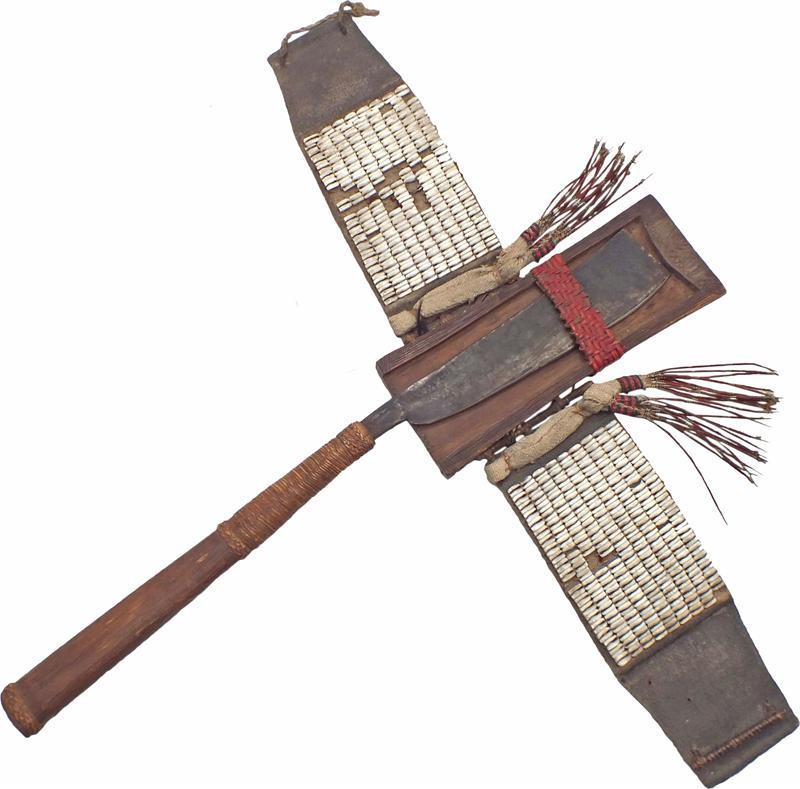 Konyak Naga Head Hunters Axe C.1860-90 With Its Original Belt - Product