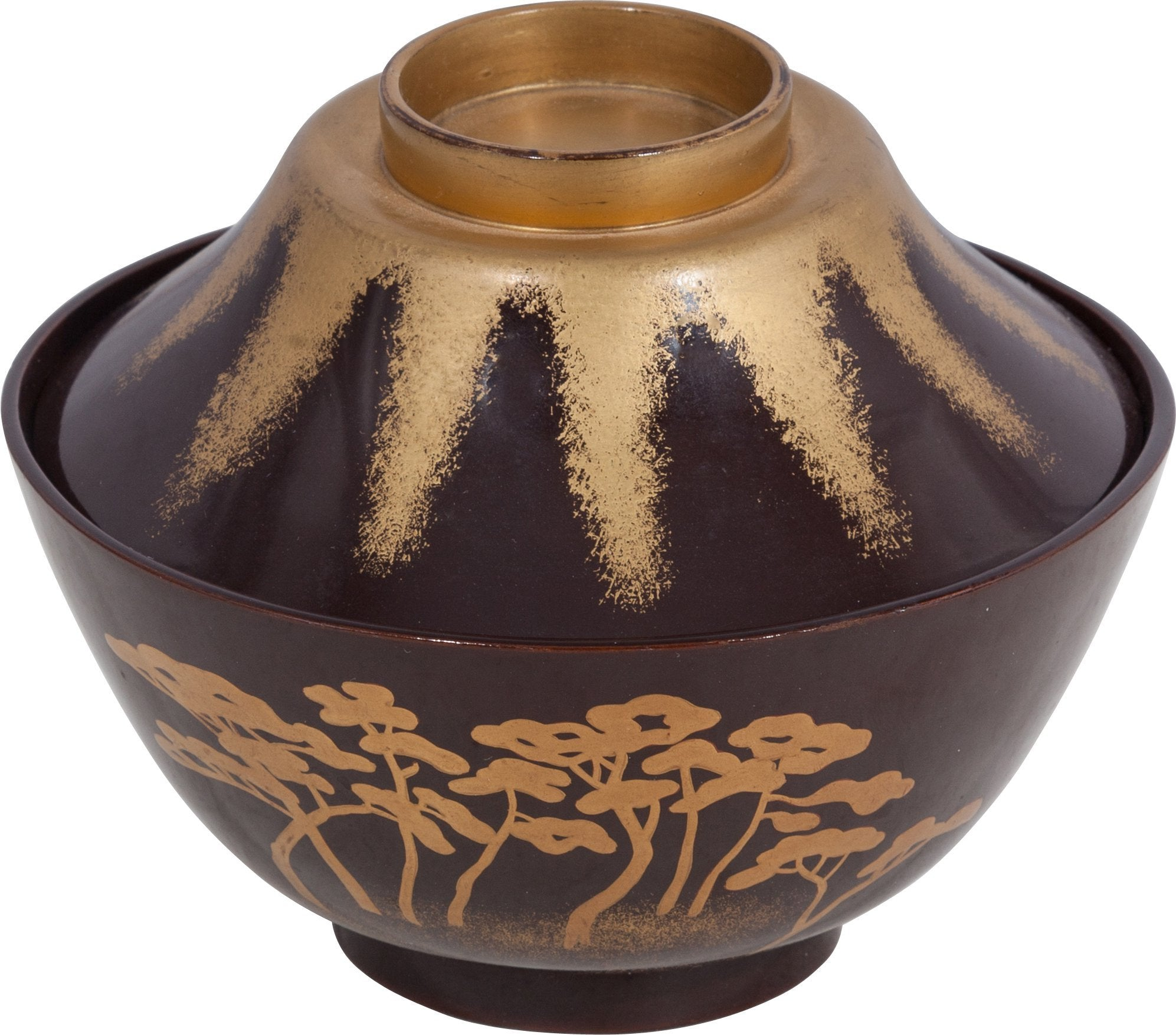Large Japanese Lacquered Bowl With Cover - Product