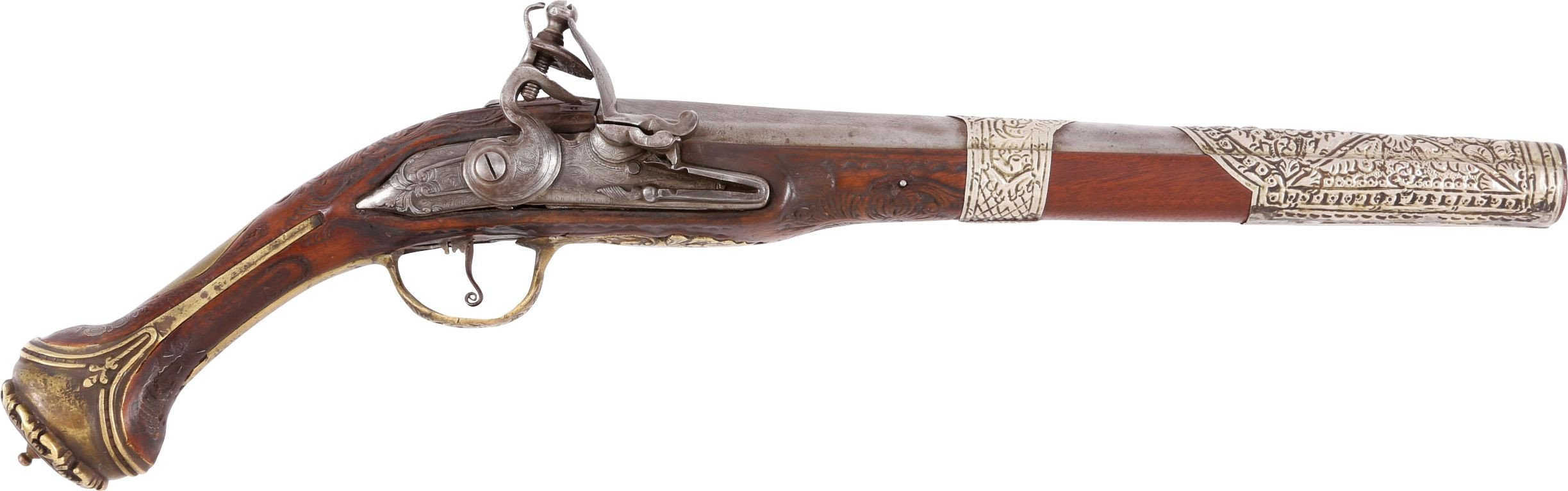 Large Ottoman Flintlock Pistol C.1750-1800 - Product