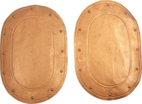 PAIR OF AMERICAN THEATRICAL SHIELDS