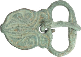RARE AND IMPORTANT SAXON BELT BUCKLE