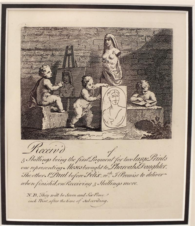 Receipt For Two Prints William Hogarth - Product