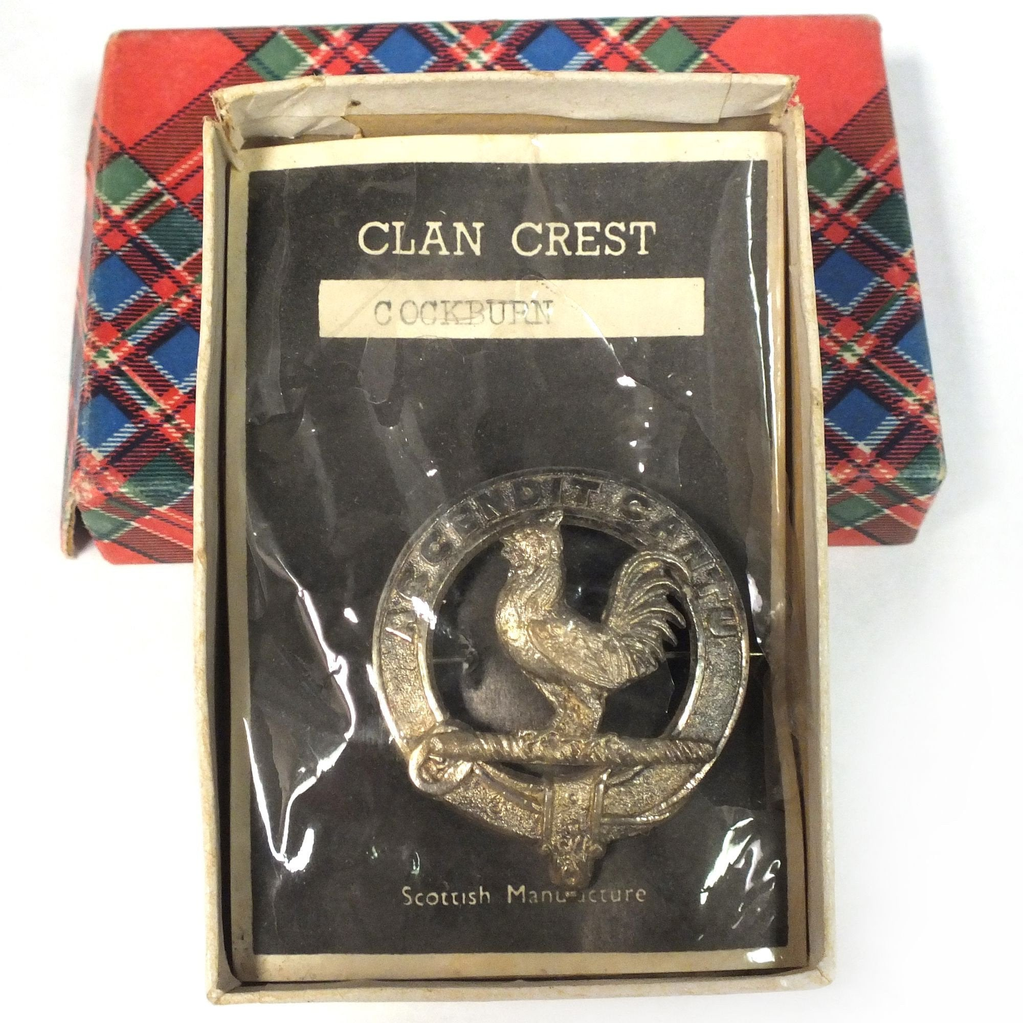 Scottish Plaid Brooch C.1900 For Clan Cockburn - Product