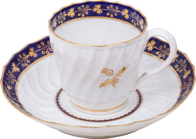 SCOTTISH PRIDE! WORCESTER CUP AND SAUCER C.1770-80 - Fagan Arms