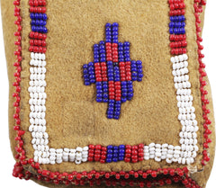 Sioux Indian Beaded Pouch - Product