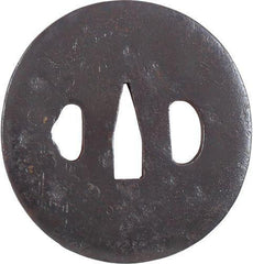 SLIGHTLY OVAL IRON TSUBA - Fagan Arms