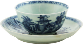 THE NANKING CARGO CHINESE EXPORT TEA BOWL AND SAUCER