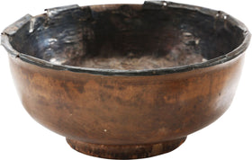 TIBETAN SILVER LINED LIBATION BOWL 16th-18th CENTURY